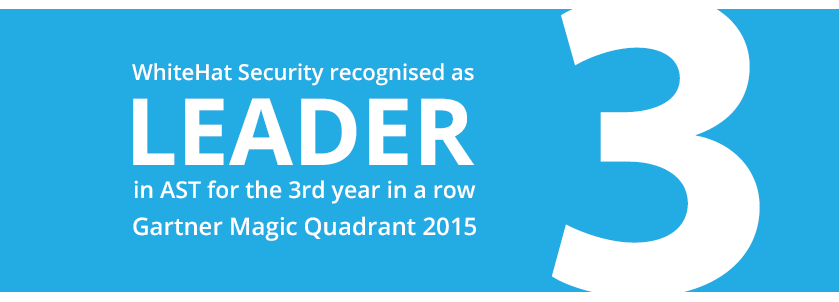 WhiteHat Security recognised as a leader in application security testing for the third year in a row by Gartner