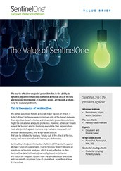 SentinelOne Endpoint Security Statement of Value