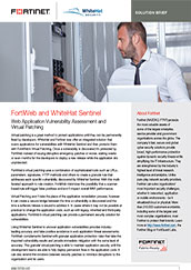 Fortinet Fortiweb and Whitehat Sentinel Security fabric