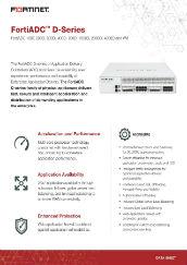 PDF: FortiADC D-Series
