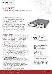 FortiMail 60D, 200E, 400E, 1000D, 2000E, 3000E, 3200E and VM
