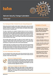 Tufin Network Security Change Automation