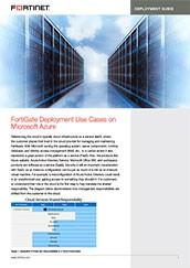 FortiGate Deployment on Microsoft Azure