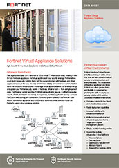 Fortinet Virtual Appliance Solutions