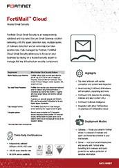 PDF: FortiMail Cloud Gateway