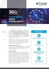 Cynet 360 Supporting GDPR Compliancy