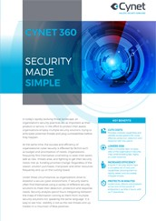 Cynet 360 Security made simple