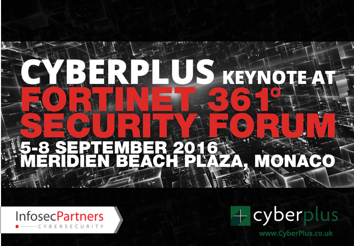 Cyberplus keynote at Fortinet