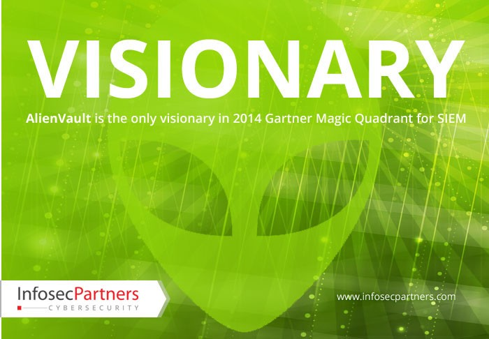 Alienvault is the only visionary in 2014 Gartner Magic Quadrant for SIEM