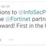 Fortinet names InfosecPartners as their first ever Partner of Excellence in the UK