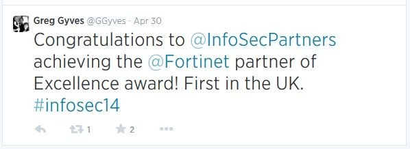 Greg Gyves Fortinet partner of excellence