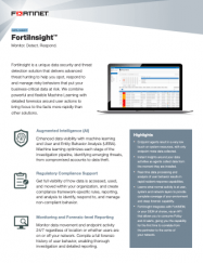 Fortinet FortiInsight product data sheet UBEA