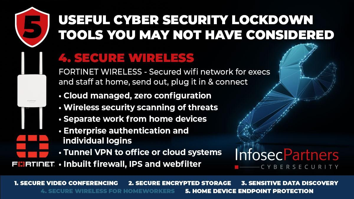 Fortinet FortiWIFI - 5 useful cybersecurity lockdown tools that you may not have considered