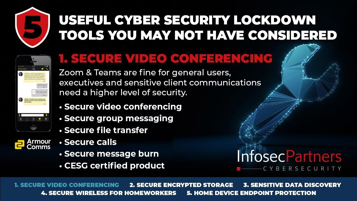 Armour Comms - 5 useful cybersecurity lockdown tools that you may not have considered