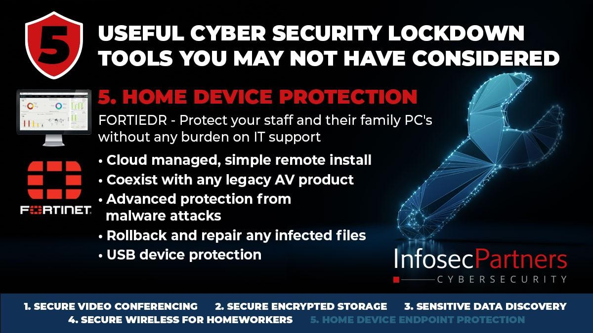 Fortinet FortiEDR - 5 useful cybersecurity lockdown tools that you may not have considered