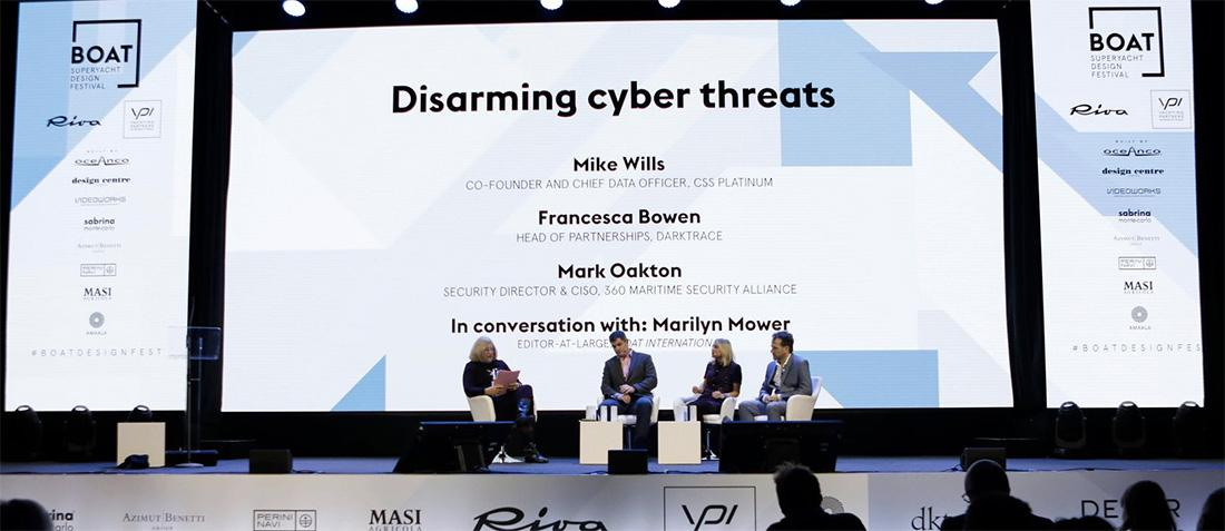 Mark Oakton speaks at the Superyacht Design Festival about superyacht cyber threats